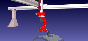 Robot mounted on a 3-axis gantry