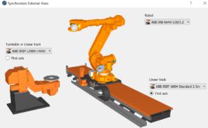Synchronize Robot External Axes