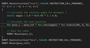 RoboDK API C sharp