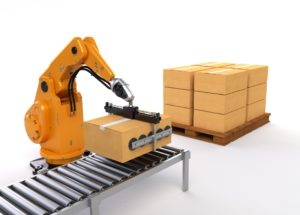 Industrial Robot and Conveyor