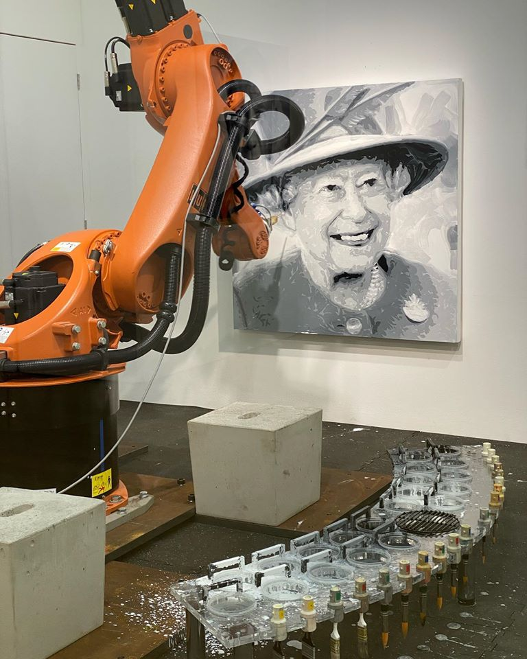Her Majesty The Queen Robot Portrait