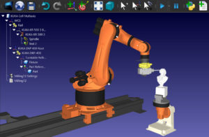 KUKA robot milling with rail and turntable