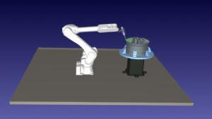 Kawasaki robot with a turntable