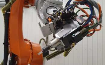 KUKA Robot Calibration Spindle with Laser Tracker