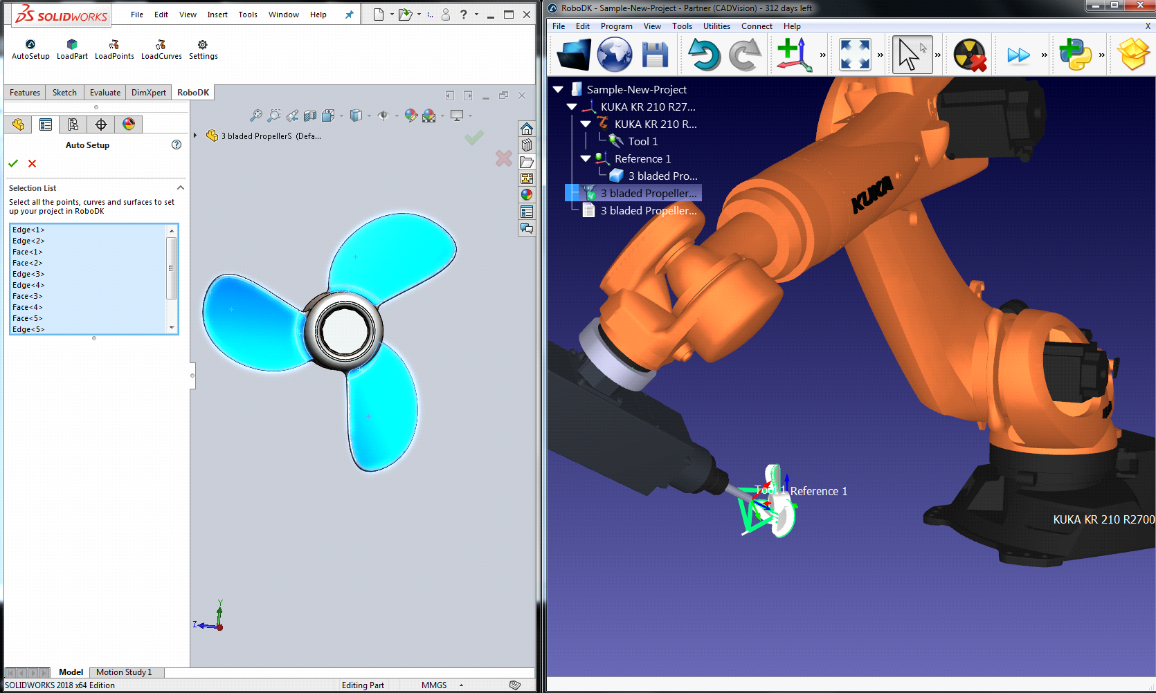 RoboDK Add-In for SolidWorks - RoboDK Documentation