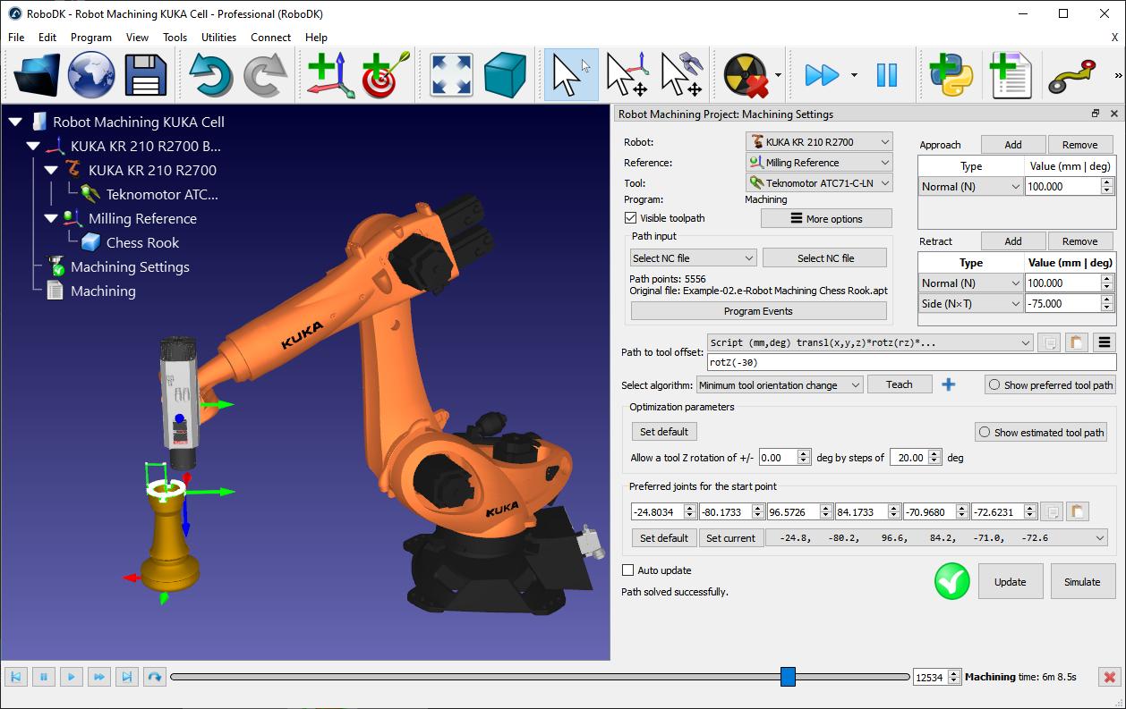 Robot Machining - RoboDK Documentation