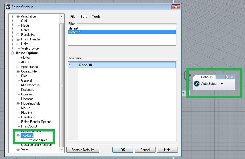 RoboDK plugin for Rhino - Documentación RoboDK