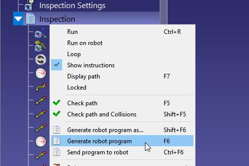 Unable to send custom code to online robot