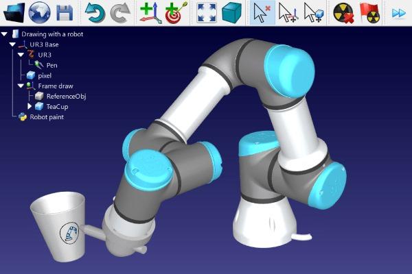 Robot Universal UR3 dibujando