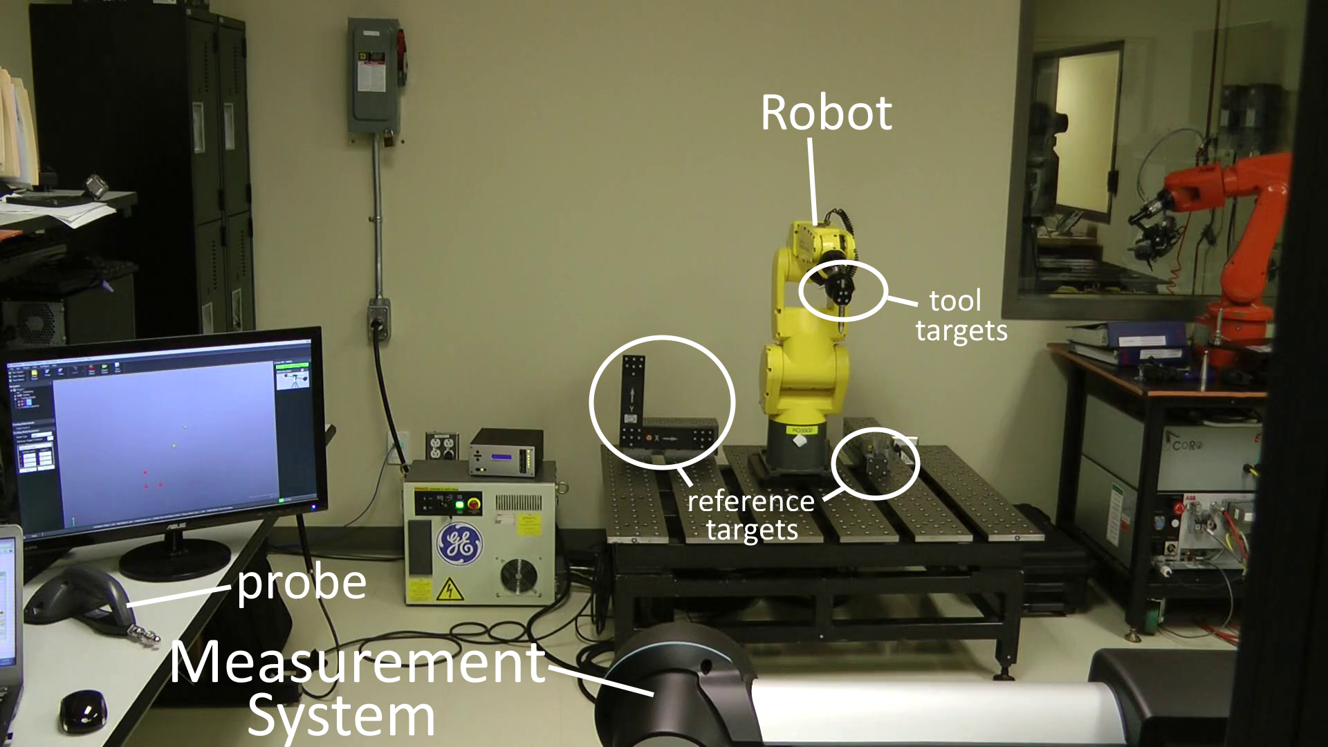 Robot calibration with Optical CMM