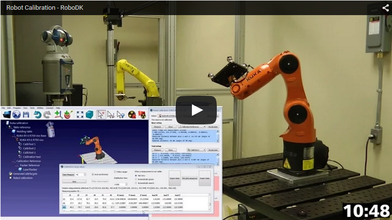 Robot calibration with Laser Tracker